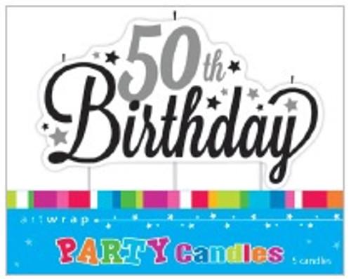 50th Birthday Script Candle