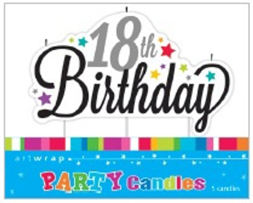 18th Birthday Script Candle