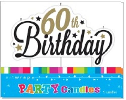 60th Birthday Script Candle