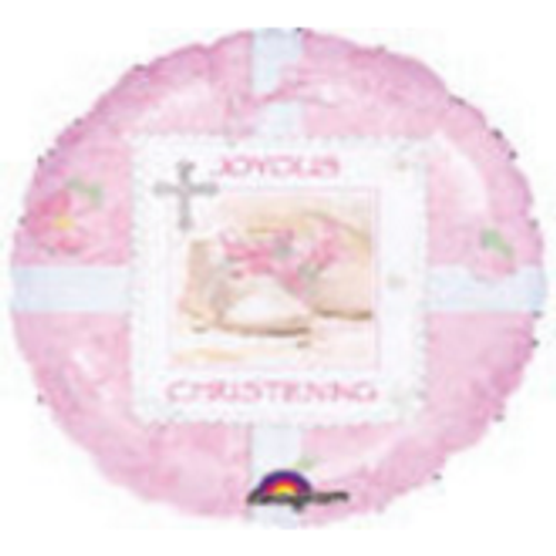 Joyous Christening Tiny Blessing Pink Foil Balloon