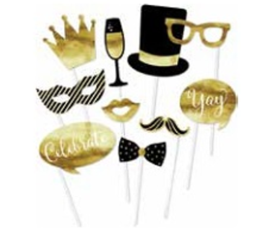 Celebrate in Gold Photo Props