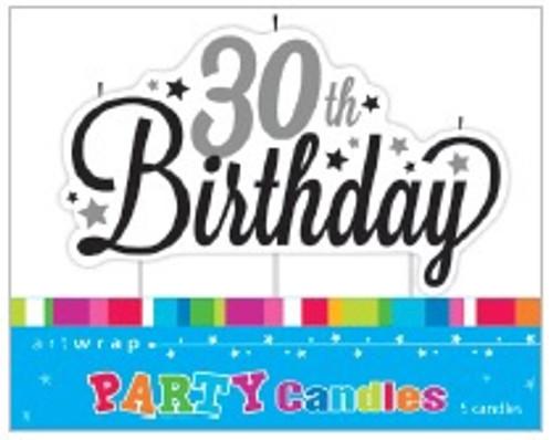30th Birthday Script Candle