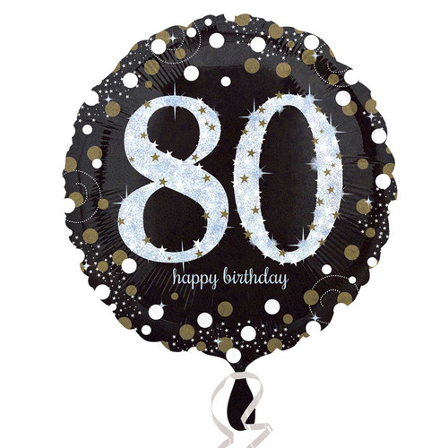 Sparkling Birthday 80 Holographic Foil Balloon