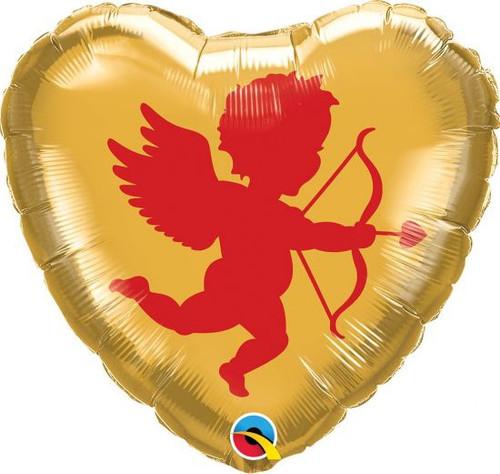 Heart Cupid Foil Balloon