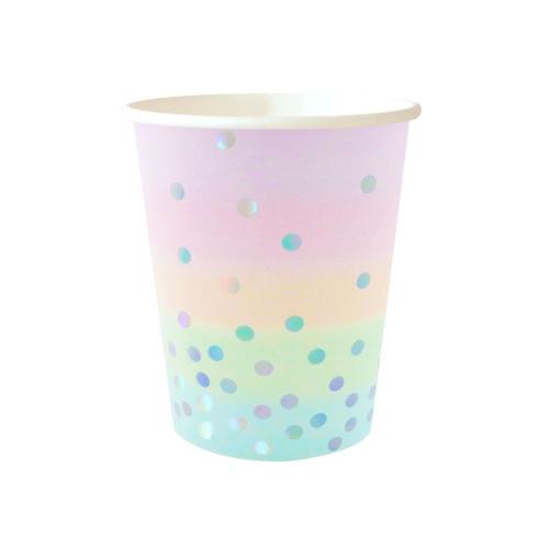 Iridescent Pastel Cups