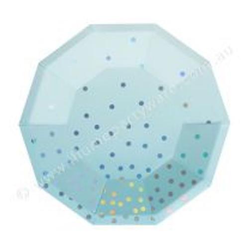 Blue Iridescent Dessert Plate