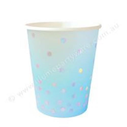 Blue Iridescent Cup