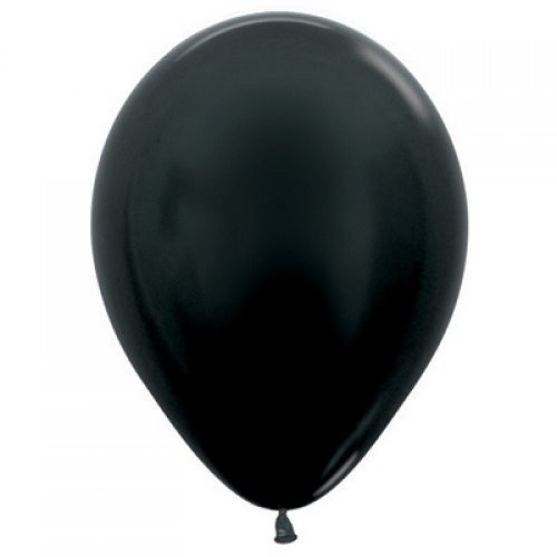 Decrotex Metallic Black 30cm Balloons - 25 Pack
