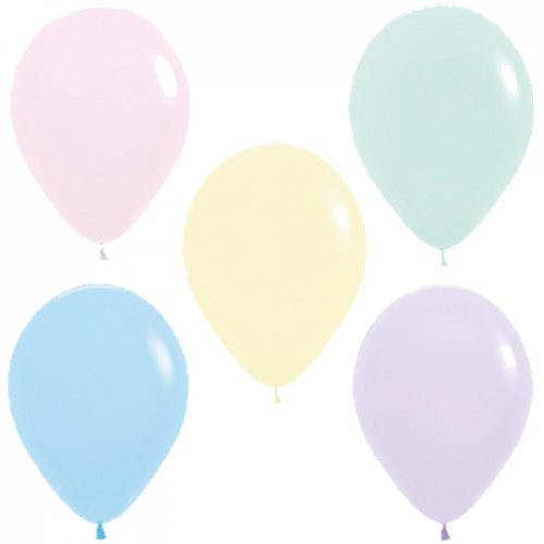 Decrotex Fashion Pastel Matte Assorted 30cm Balloons - 25Pack