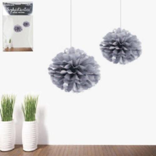Puff Ball 15cm - Silver