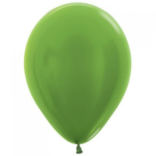 Decrotex Metallic Lime Green 30cm Balloons - 25 Pack