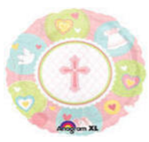 Sweet Christening Girl Balloon