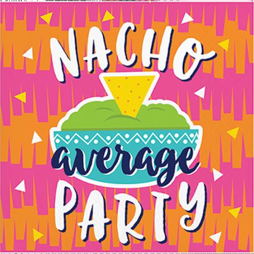 "Fiesta Fun Beverage Paper Napkins ""Nacho Average Party"""