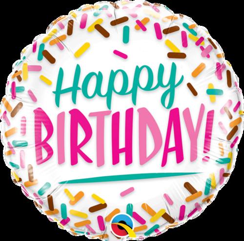 Birthday Sprinkles Foil Balloon