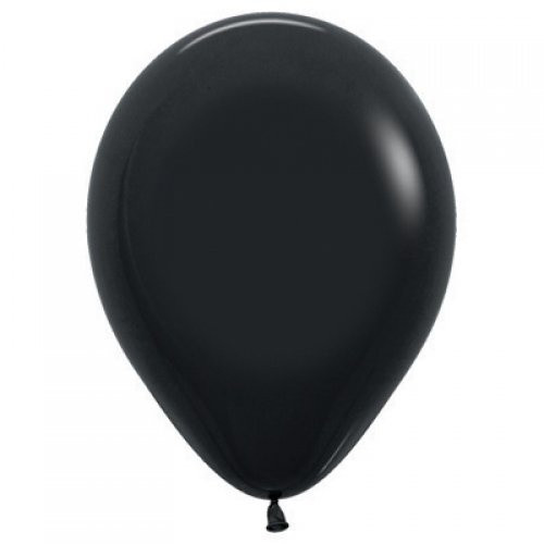 Decrotex Fashion Black 30cm Balloons - 25 Pack