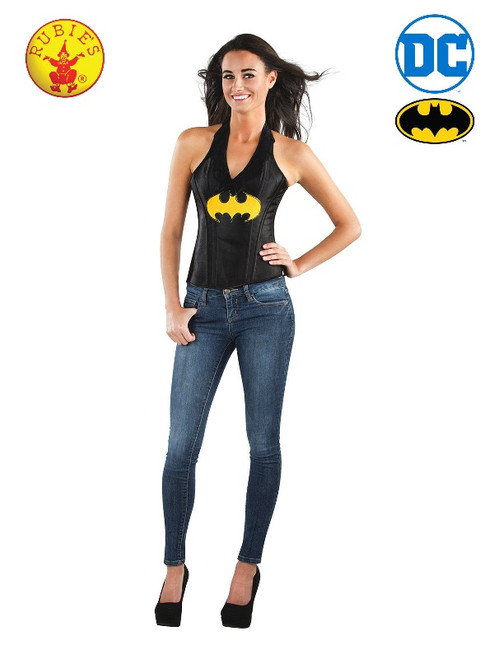 Batgirl Leather-look Corset, Adult - L
