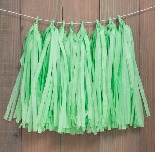 Decorative Tassel Garland Green