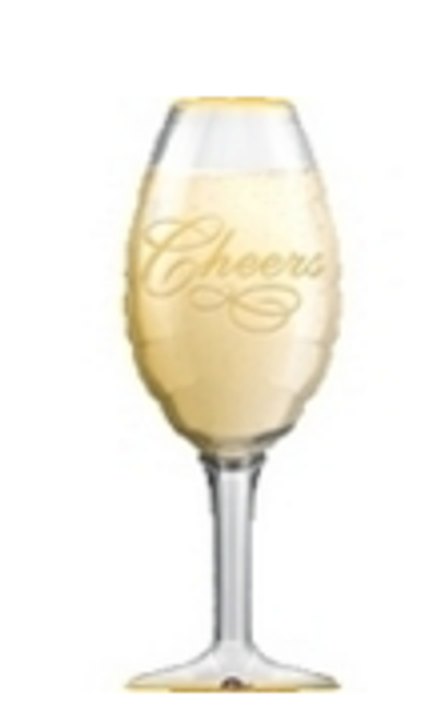 Champagne Glass SuperShape Foil Balloon