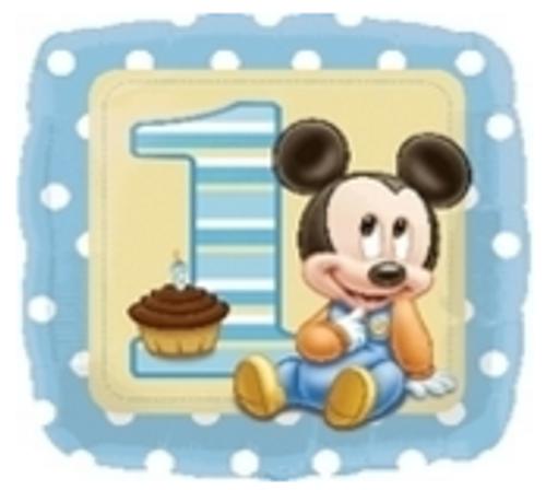 Mickey 1st Bday Boy Foil Balloon
