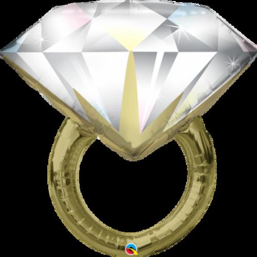 Diamond Wedding Ring Foil Shape Balloon