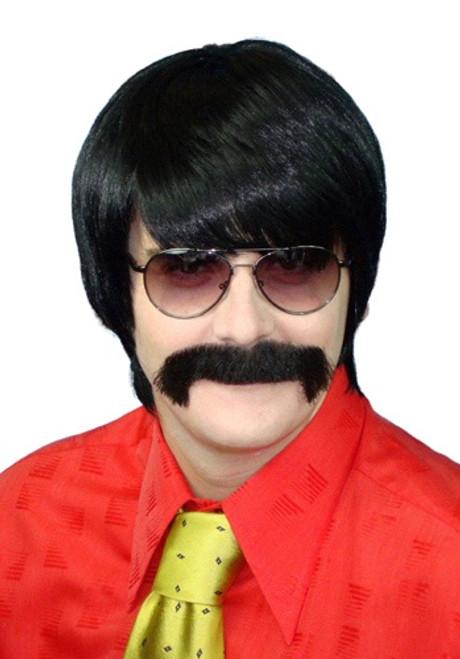 Black 70's Mod Guy Wig