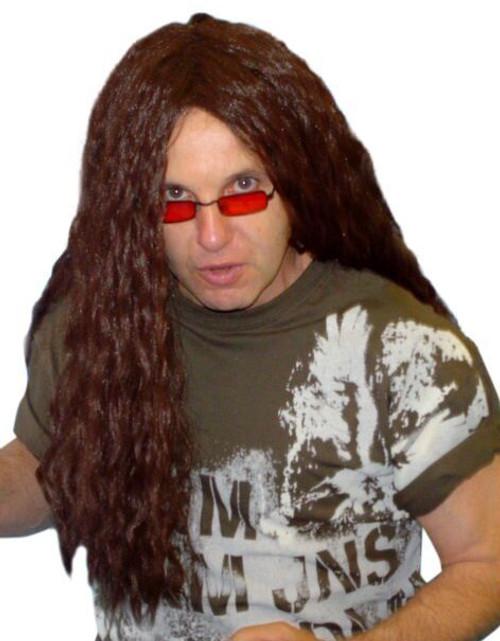 Heavy Metal Rocker Long BROWN Wig