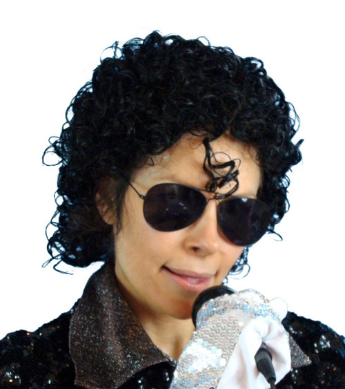MJ 80's Short Curly Wig