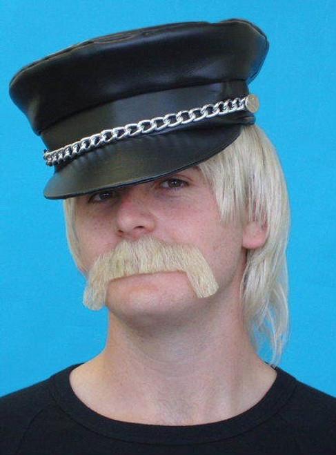 Blonde Merv Moustache