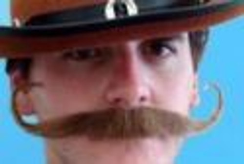 Brown Outlaw Moustache