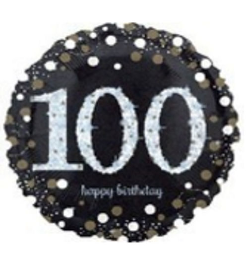 Sparkling Birthday 100 Holographic Foil Balloon
