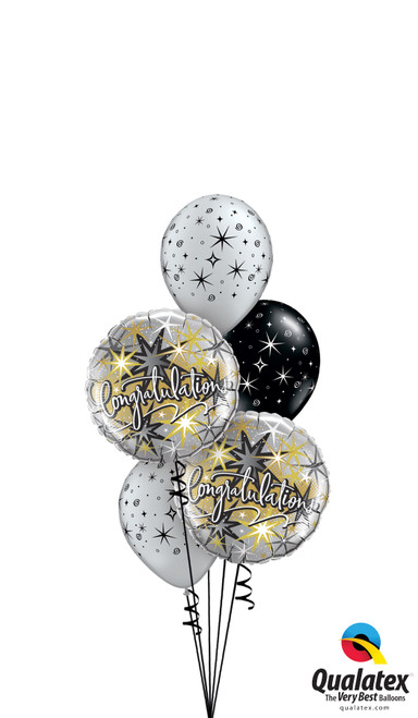 Congratulations Sparkles and Swirls - Congratulations Balloon Arrangement