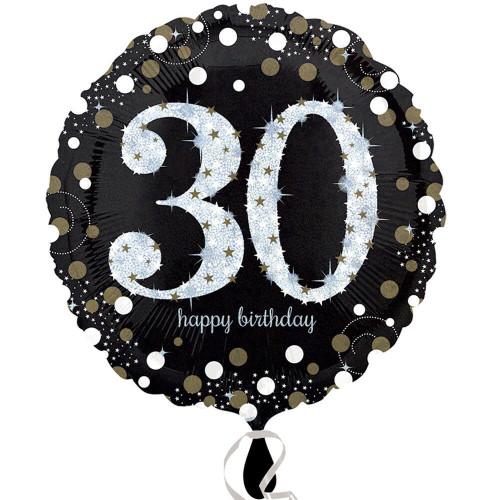 Gold Sparkling Birthday 30th Birthday Foil Balloon
