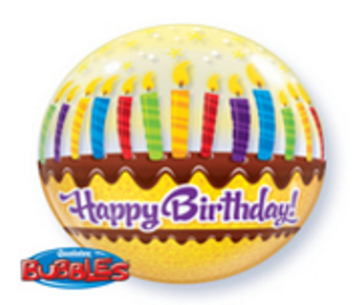Birthday Candles And Frosting Bubble Balloon