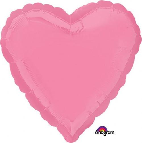 Heart Standard Bubble Gum Pink Foil Balloon