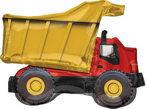 Dump Truck Supershape Foil Balloon