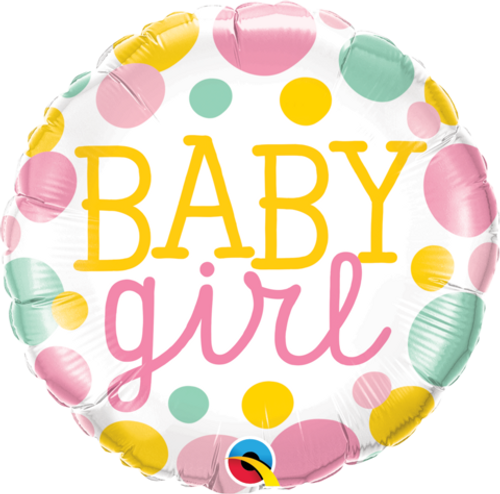 Baby Girl Dots Foil Balloon