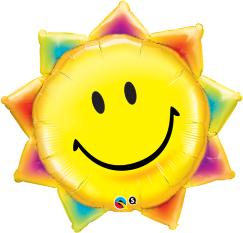 Sunshine Smile Face Foil Super Shape Balloon