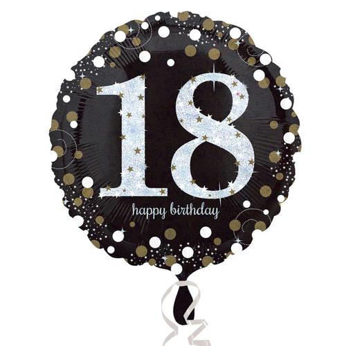 Sparkling Birthday 18 Holographic Foil Balloon