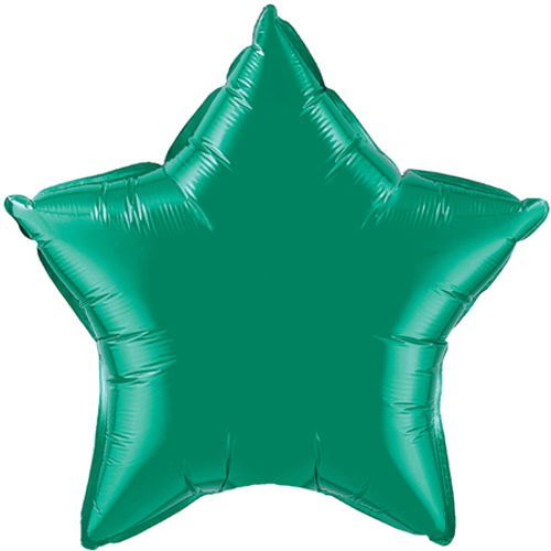 Emerald Green Star Foil Balloon