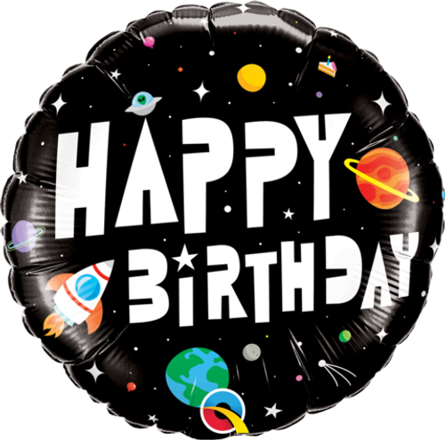 Happy Birthday Astronaut Theme Foil balloon
