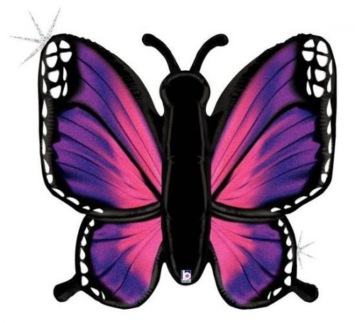 Radiant Butterfly Pink Supershape Foil Balloon