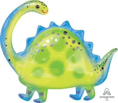 Brontosaurus Dinosaur Supershape Foil Balloon