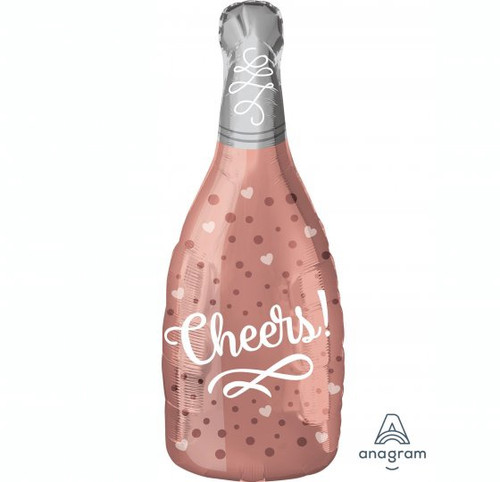 Cheers Rose Champagne Junior Shape Foil Balloon