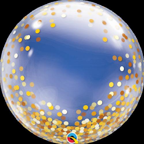 Gold Confetti Dots Bubble Balloon