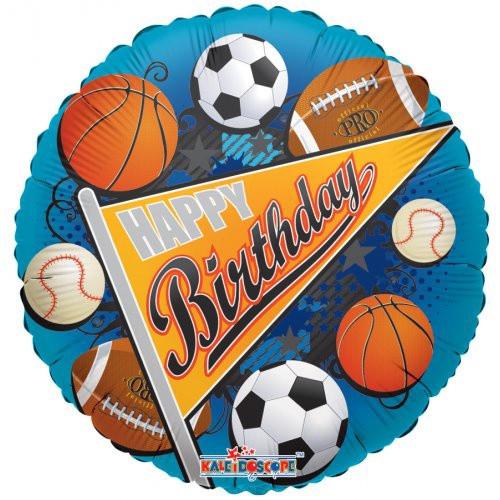 Birthday Sports Pennant Foil Balloon