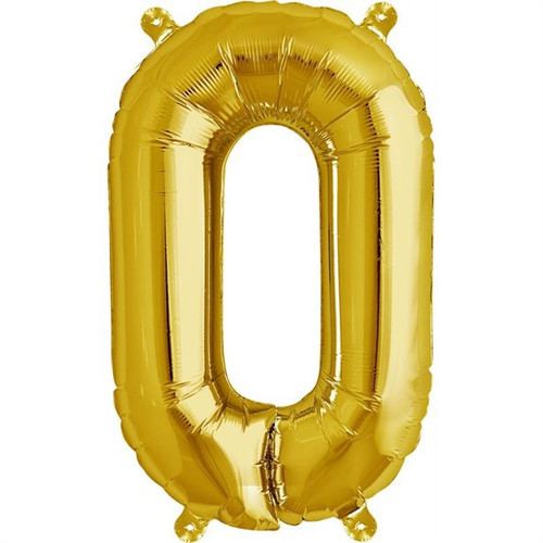 Gold 16in Letter O Balloon