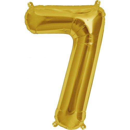 Gold 16inch Number 7 Balloon
