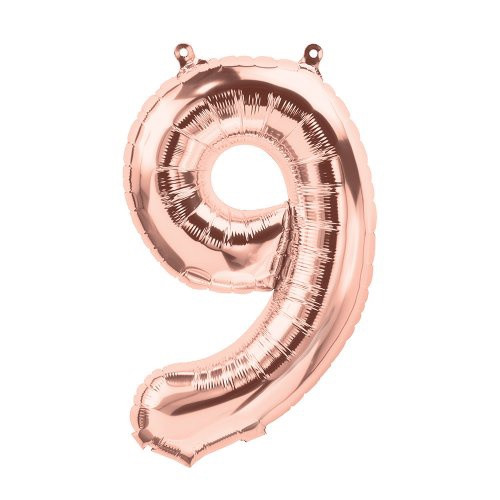 Rose Gold 16 inch Number 9 Balloon