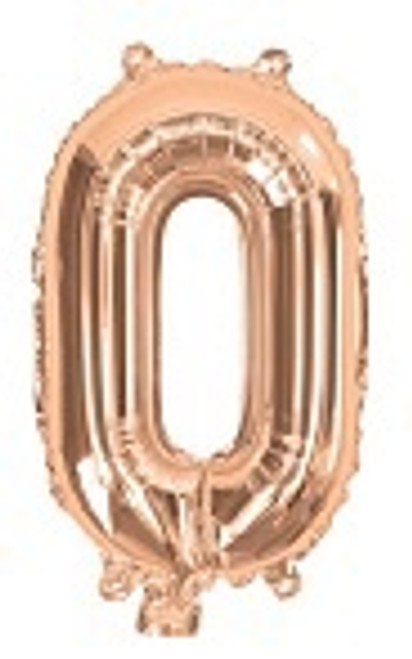 Rose Gold 16inch Number 0 Balloon