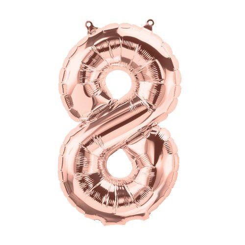 Rose Gold 16 inch Number 8 Balloon